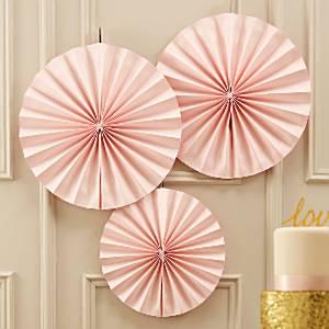 Vaaleanpunaiset paperiviuhkat