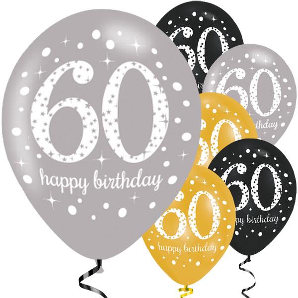 60-vuotis ilmapallot