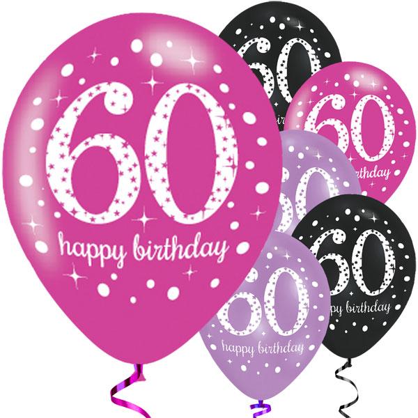 60-vuotispallot pinkki