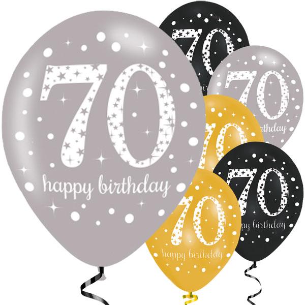 70-vuotis ilmapallot