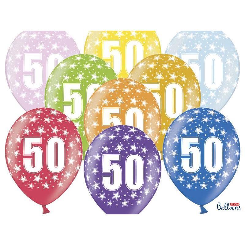 Värikkäät 50-vuotispallot