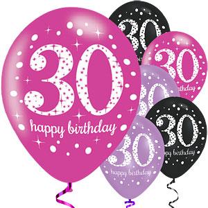 30-vuotispallot pinkki