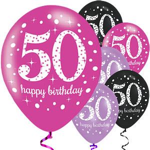50-vuotispallot pinkki