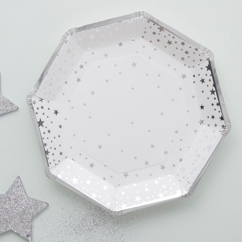 Hopeatähti lautaset