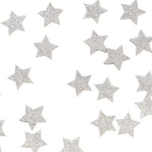 Hopeiset tähtiglitter konfetit