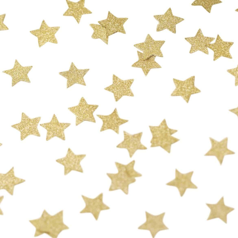 Kultaiset tähtikonfetit