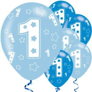 Siniset ilmapallot 1-vuotiaalle