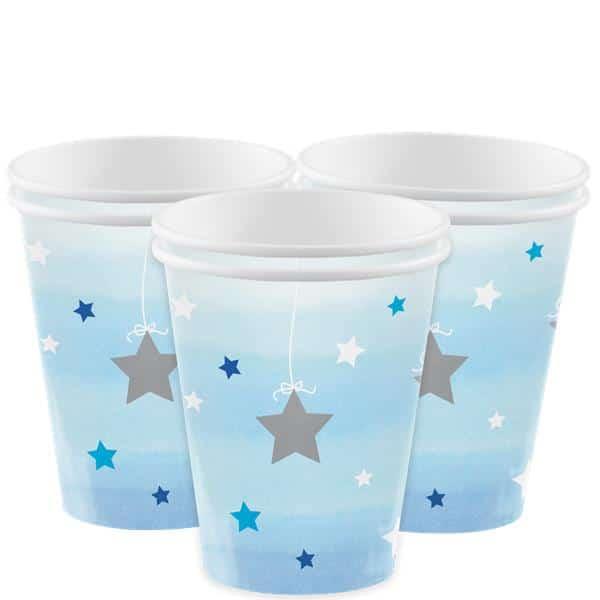 Siniset tähtikuvioidut mukit