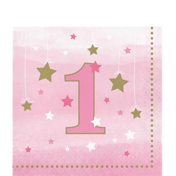 vaaleanpunaiset tähtikuvioidut lautasliinat 1 vuotiaalle