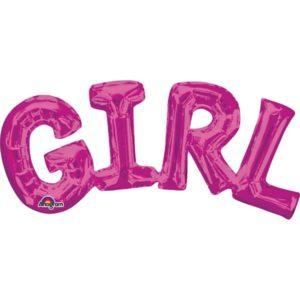 Girl pinkki foliopallo