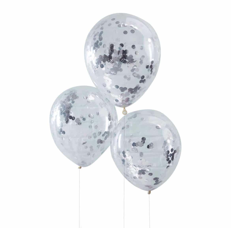 Hopeiset konfetti ilmapallot