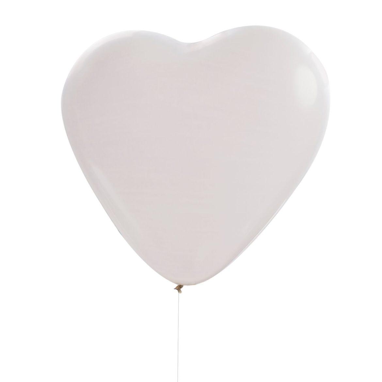 Iso valkoinen sydänilmapallo