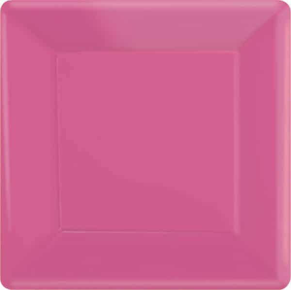 Kirkkaan pinkit isot neliölautaset