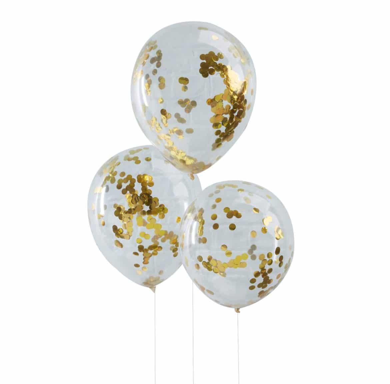 Kultaiset konfetti ilmapallot