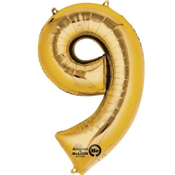 Numero 9 kultafoliopallo