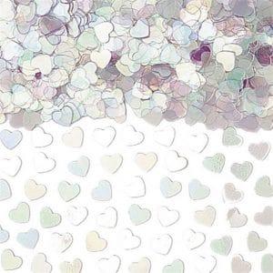 Sateenkaarenhohtoinen sydänkonfetti