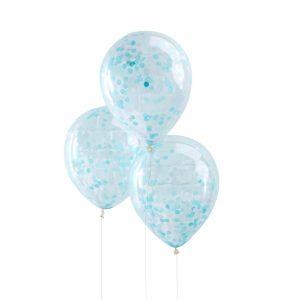 Siniset konfetti ilmapallot