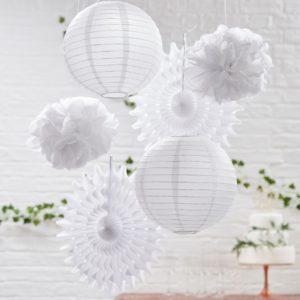 Valkoinen koristesetti