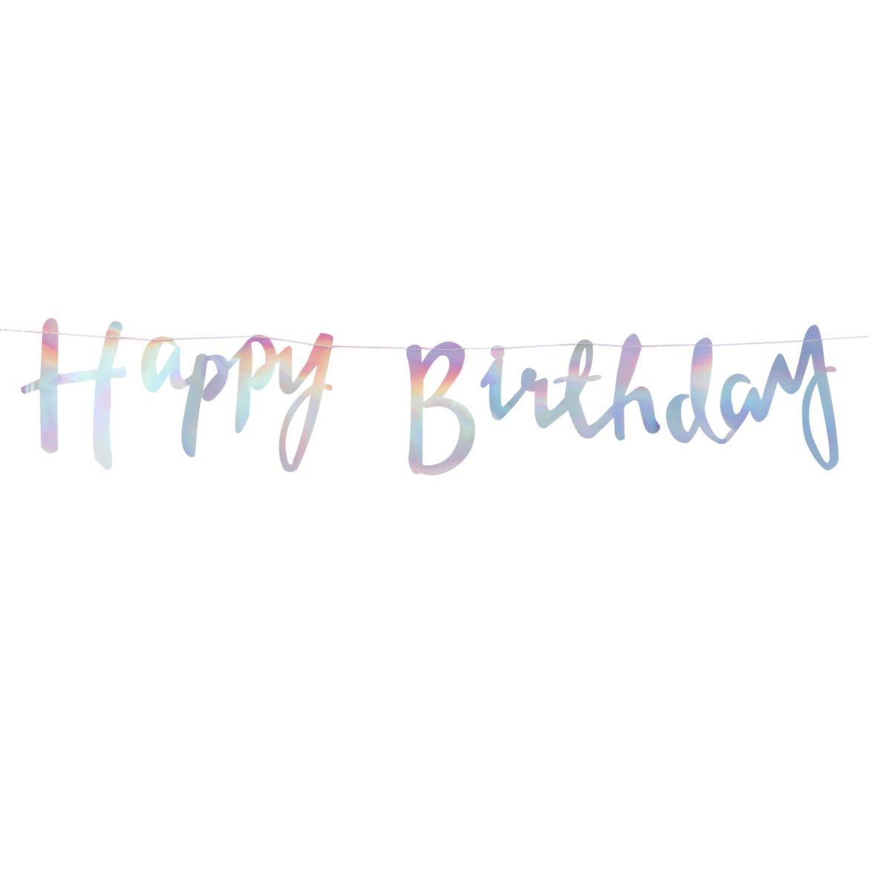 happy birthday sateenkaaren värinen nauha
