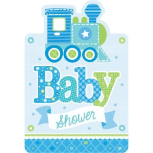 Baby shower kutsut sininen
