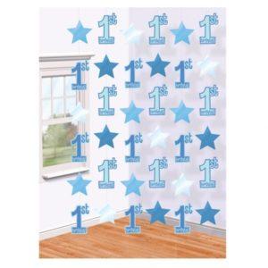 Siniset koristenauhat 1-vuotiaalle