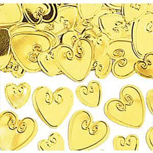Kullanväriset sydänkonfetit