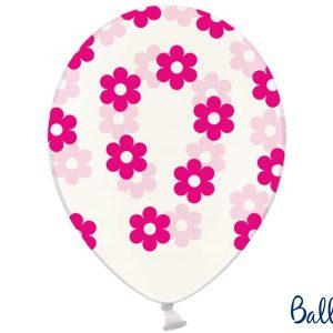 Pinkit kukat kirkkaassa ilmapallossa