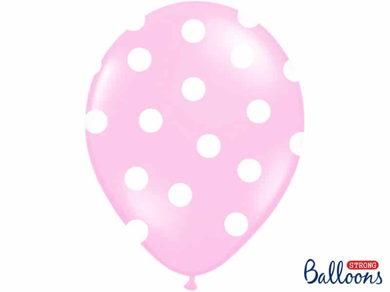 Vaaleanpunaiset polka dot ilmapallot