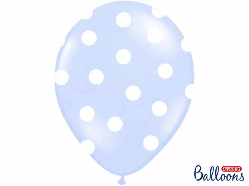 Vaaleansiniset polka dot ilmapallot