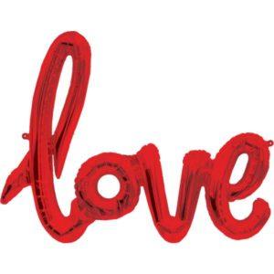 Punainen love foliopallo