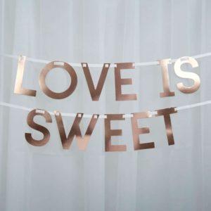 Love is sweet ruusukultainen nauha