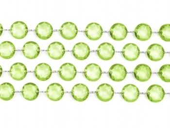 Kristalliketju vaaleanvihreä