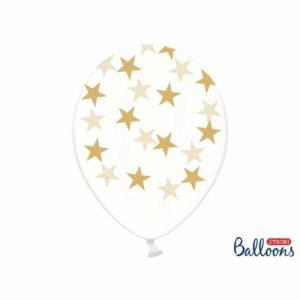 Kirkkaat ilmapallot kultaisilla tähdillä
