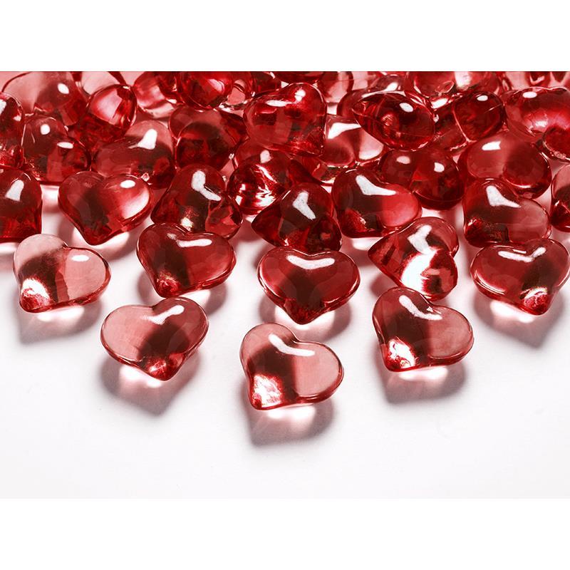 Kristallisydämet punainen