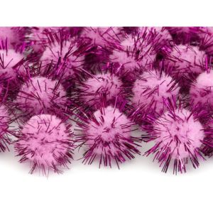 Minipompomit, pinkki