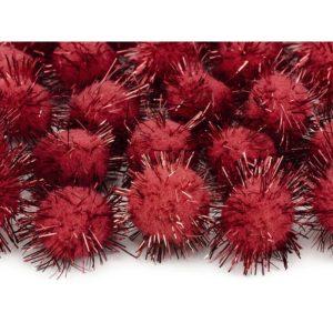 Minipompomit punainen
