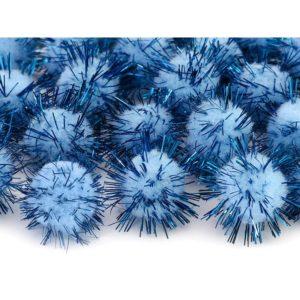 Minipompomit sininen