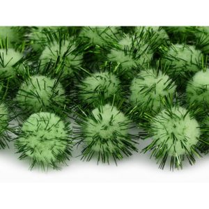 Minipompomit vihreä