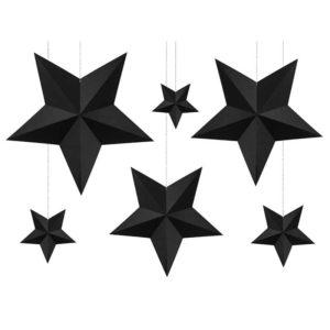 Mustat tähtikoristeet