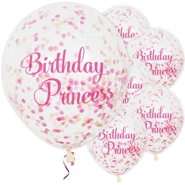 Pinkit konfettipallot prinsessalle