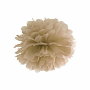 Pompom vaaleanruskea 35cm