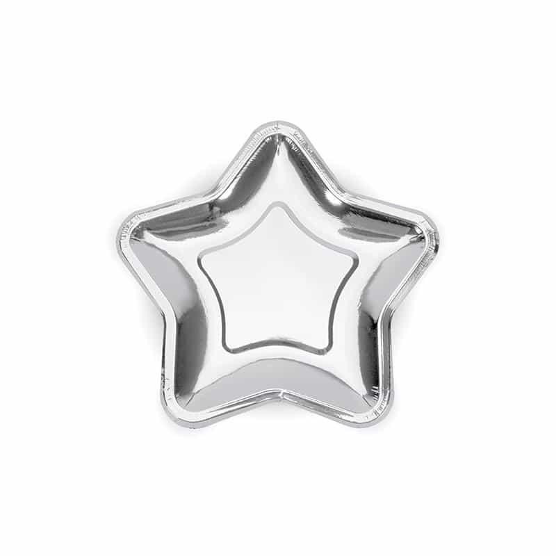 Tähtilautaset hopea