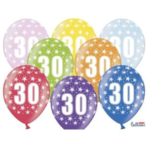 Värikkäät 30-vuotispallot