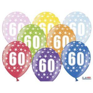 Värikkäät 60-vuotispallot