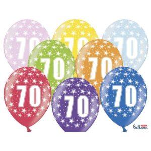 Värikkäät 70-vuotispallot