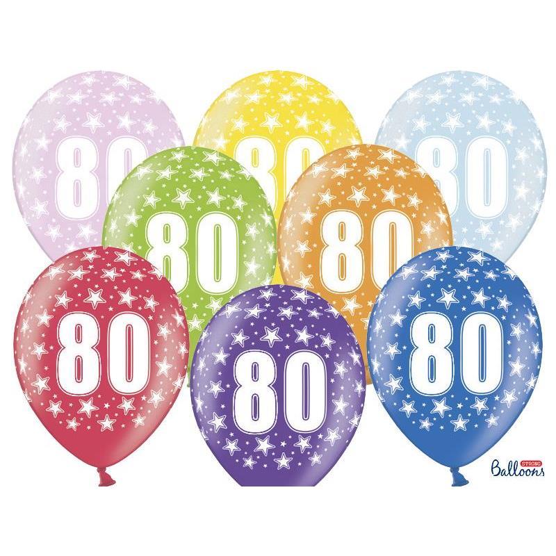 Värikkäät 80-vuotispallot