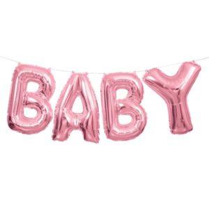 Vaaleanpunainen baby foliopallo
