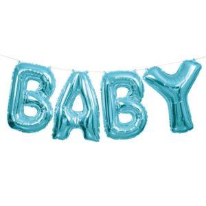 Vaaleansininen baby foliopallo
