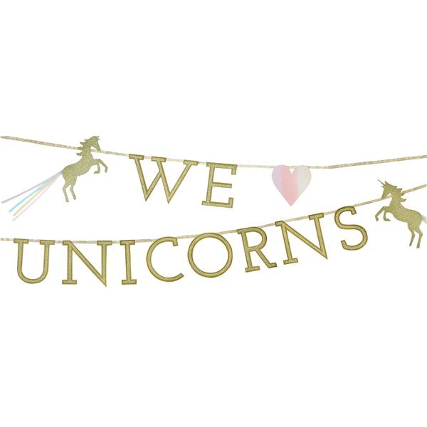 We love unicorns banneri