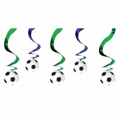 Jalkapallo kiemuraiset koristenauhat